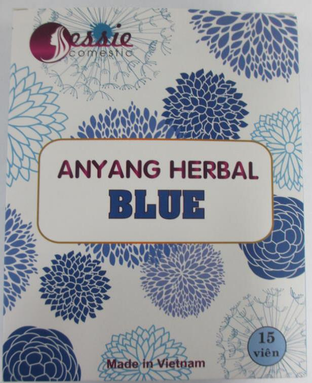 Image of the illigal product: Anyang Herbal Blue