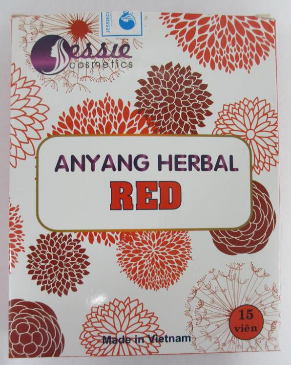Image of the illigal product: Anyang Herbal Red