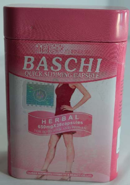 Image of the illigal product: Baschi Quick Slimming Capsule