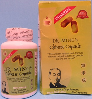 Image of the illigal product: Dr. Mings Chinese Capsules