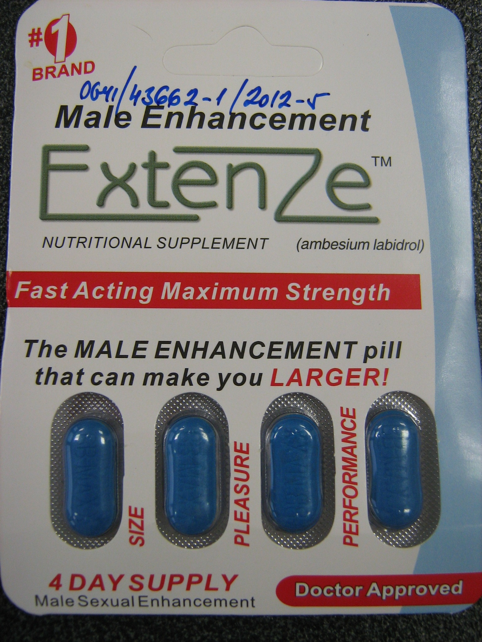 Image of the illigal product: Extenze