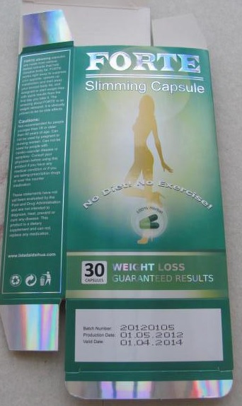 Image of the illigal product: Forte Slimming Capsule