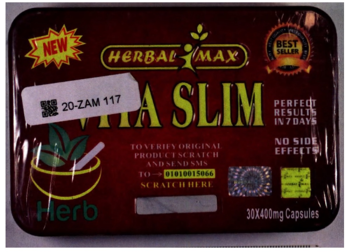 Image of the illigal product: Herbal Max Vita Slim