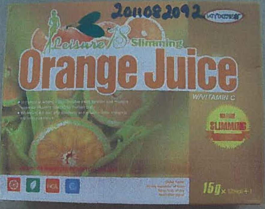 Image of the illigal product: Leisure 18 Slimming Orange juice
