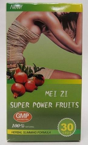 Image of the illigal product: Meizi Super Power Fruits Herbal Slimming Formula