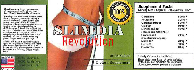 Image of the illigal product: SlimExtra Herbal Capsules