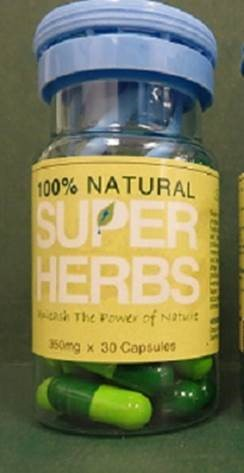 Image of the illigal product: Super Herbs